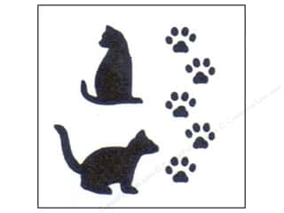 craft & hobbies: StenSource Painting Stencil 5 in. Cat Paws
