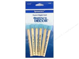 "Plaid Paint Essentials Stencil Decor Spouncer 1/4"" Mini 6pc"