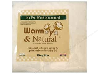 needle punch batting: The Warm Company Warm and Natural Cotton Batting King 120 x 124 in.