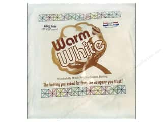 The Warm Company Batting: The Warm Company Warm and White Cotton Batting King 120 x 124 in.