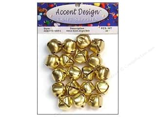 craft & hobbies: PA Essentials Jingle Bells 3/4 in. 26 pc. Gold