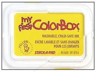 Clearance ColorBox Premium Dye Ink Pad: My First ColorBox Dye Ink Pad Yellow