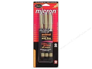 Weekly Specials Pen Sets: Sakura Pigma Micron Pen Set Black.3pc