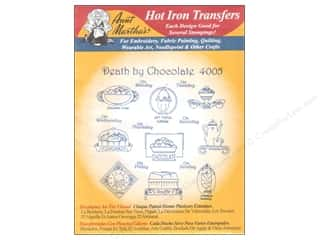 yarn & needlework: Aunt Martha's Hot Iron Transfer #4005 Death By Chocolate