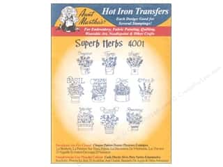 yarn & needlework: Aunt Martha's Hot Iron Transfer #4001 Superb Herbs