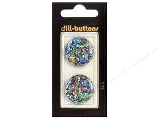 Dill 2 Hole Buttons 7/8 in. Black/Confetti #444 2 pc.