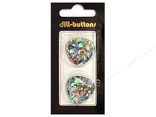 Dill 2 Hole Buttons 1 in. Black/Confetti #447 2 pc.