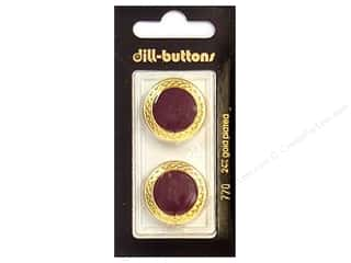 Dill Shank Buttons 7/8 in. Enamel Wine Red #770 2 pc.
