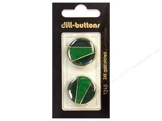 Dill Shank Buttons 7/8 in. Enamel Green/Gold #1240 2 pc.