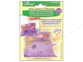 clover needle cases: Clover Desk Needle Threader - Purple