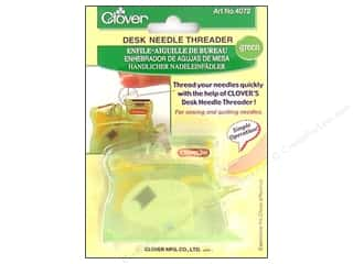 desk needle threader: Clover Desk Needle Threader - Green