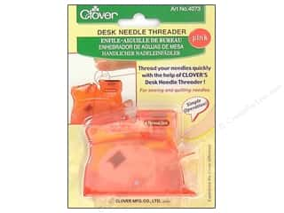 clover needle cases: Clover Desk Needle Threader - Pink