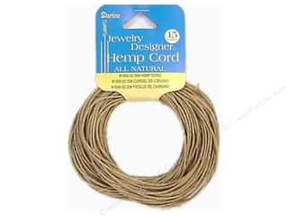 beading & jewelry making supplies: Darice Hemp Cord 20 lb. Natural 15 yd.