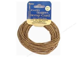 beading & jewelry making supplies: Darice Hemp Cord 48 lb. Natural 10 yd.