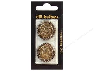 Dill Shank Buttons 1 in. Antique Gold #1946 2 pc.