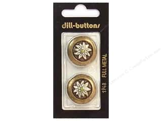 Dill Shank Buttons 7/8 in. Antique Gold #1948 2 pc.