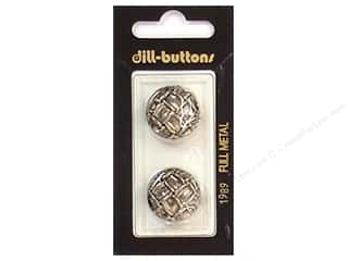 Dill Shank Buttons 13/16 in. Antique Silver Metal #1989 2 pc.