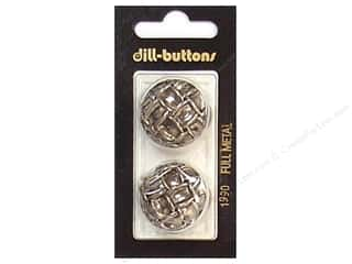 Dill Shank Buttons 1 in. Antique Silver Metal #1990 2 pc.