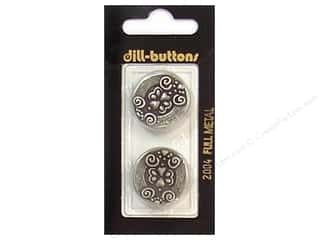 Dill Shank Buttons 7/8 in. Antique Tin Metal #2004 2 pc.