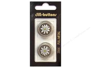 Dill Shank Buttons 7/8 in. Antique Tin Metal #2006 2 pc.