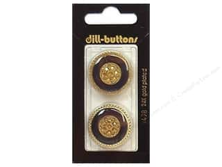 Buttons: Dill Shank Buttons 1 in. Enamel Navy/Gold #1498 2pc.