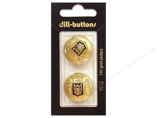 Dill Shank Buttons 7/8 in. Enamel Navy/Gold #1512 2 pc.