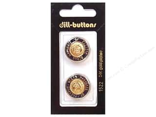 Dill Shank Buttons 13/16 in. Enamel Navy/Gold #1522 2 pc.