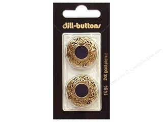 Dill Shank Buttons 1 in. Enamel Navy/Gold #1484 2 pc.