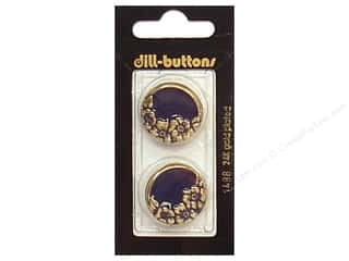 Dill Shank Buttons 7/8 in. Enamel Navy/Gold #1488 2 pc.