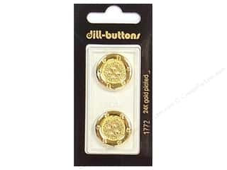 Dill 4 Hole Buttons 13/16 in. Gold #1772 2 pc.