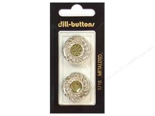 Dill Shank Buttons 7/8 in. Silver #1718 2 pc.