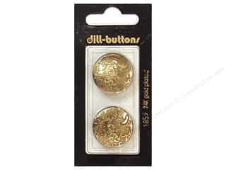 Buttons: Dill Shank Buttons 7/8 in. Antique Gold #1859 2 pc.