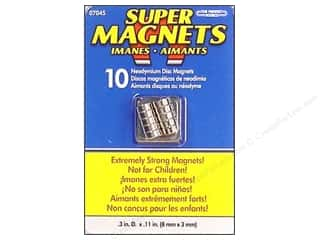 magnet disc: The Magnet Source Super Neodymium Magnet Discs 1/3 in. 10 pc.