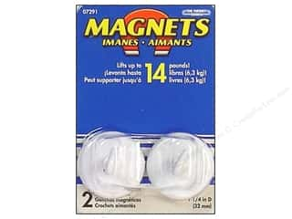 craft & hobbies: The Magnet Source Magnet Hooks 1 1/4 in. 2 pc. White