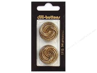 Dill Shank Buttons 1 in. Antique Gold #1915 2 pc.