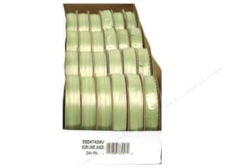 ribbon: Offray Spool-O-Ribbon Double Face Satin Lime Juice (24 spools)