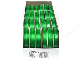 ribbon: Offray Spool-O-Ribbon Double Face Satin Emerald (24 spools)