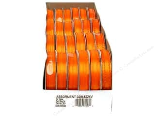 ribbon: Offray Spool-O-Ribbon Double Face Satin Orange (24 spools)