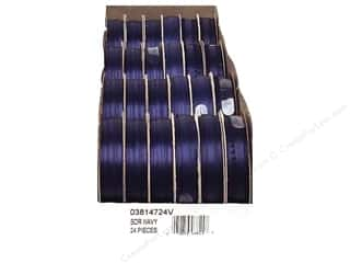Offray Spool-O-Ribbon Double Face Satin Navy (24 spools)