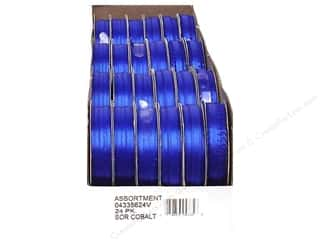 Offray Spool-O-Ribbon Double Face Satin Cobalt (24 spools)