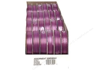 Offray Spool-O-Ribbon Double Face Satin Amethyst (24 spools)