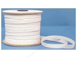elastic: Conrad Jarvis Braided Flat Elastic 3/8 in x 70 yd White (70 yards)
