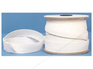 braided elastic: Conrad Jarvis Braided Flat Elastic 1 in x 20 yd White (20 yards)