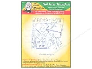 Aunt Martha's Hot Iron Transfer #3739 New Monograms