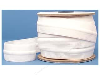 Drawstring Elastic: Conrad Jarvis Draw Cord Elastic Reel 1 1/4 in x 12 yd White (12 yards)
