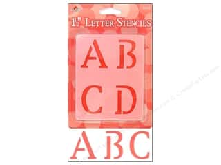 scrapbooking & paper crafts: Plaid Alphabet Stencils 1 1/2 in. Upper Case Old School