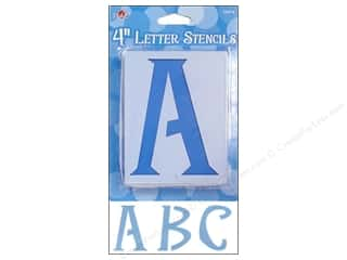 Plaid Alphabet Stencils Upper Case 4 in. Genie