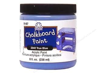 craft & hobbies: Plaid FolkArt Chalkboard Paint 8 oz. True Blue