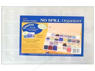 storage : Darice No Spill Organizer 13 5/8 x 8 1/2 x 1 3/8 in. with 32 Compartments