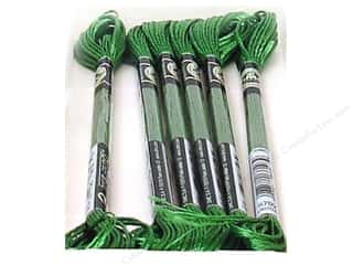 DMC Satin Embroidery Floss #S702 Kelly Green (6 skeins)